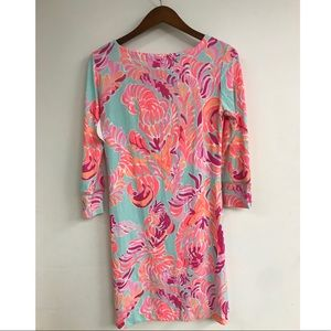 Lily Pulitzer Love  Birds print long sleeve dress